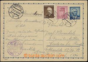 48815 - 1948 cenzura  CDV zaslaná do americké zóny v Německu, ce
