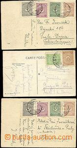 48841 - 1925 3 pohlednice zaslané do Čech, bohatší frankatury, d