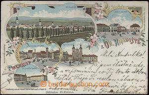 48884 - 1899 Uherské Hradiště - 5okénková litografie; DA, prošlá, od