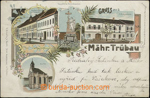 48885 - 1898 Moravská Třebová - 4-views lithography; long address