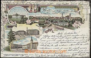 48887 - 1902 Litovel - 4okénková litografická koláž se skřítk