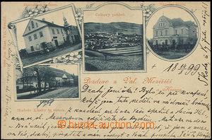 48890 - 1899 Valašské Meziříčí - 4okénková, radnice, zámek hraběte K