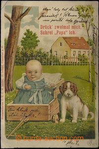 48892 - 1900 pískací postcard, lithography; long address, Us, with