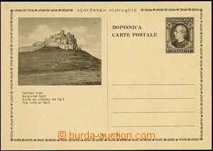 48927 - 1939 PC Alb.CDV4/2 Spiš castle, thin price, mint never hing