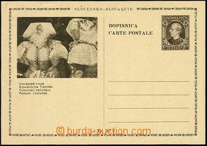 48928 - 1939 PC Alb.CDV4/3 Slovak costume, thin price, mint never hi