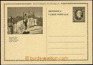48929 - 1939 PC Alb.CDV4/4 High Tatras, skier, thin price, mint neve