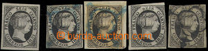 48959 - 1851 Mi.6, comp. 5 pcs of, from that 1x gorgeous margins, st