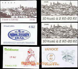 49023 - 1993-8 comp. 6 pcs of  stamp booklets Pof.ZS12 (2x), 39, 41,