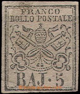 49060 - 1852 Mi.6a, narůžovělý papír, velmi hezký střih, mal�