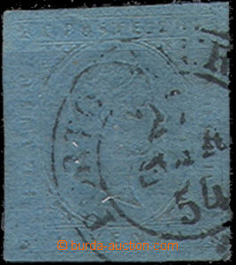 49072 - 1853 Mi.5, blue, good shape, allmost whole Porto ?/ 25.MAR.5