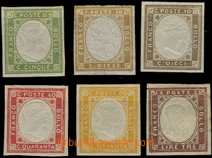 49084 - 1855-63 Mi.11a,15, set of 2 pieces, supplemented by 4 pieces