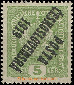 49095 -  Pof.34 Znak s převráceným přetiskem, svěží, kat. 550