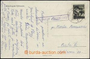 49101 - 1948 pohlednice s razítkem poštovny *SKRYJE* (KUBLOV), DR