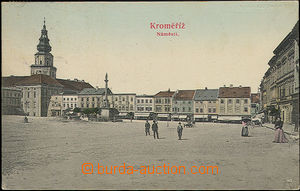 49104 - 1906 Kroměříž - figures in the main square; Us, very goo