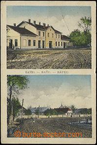 49110 - 1924 Baťu - 2okénková, budova nádraží, náves; DR nád