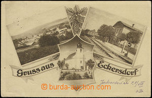 49117 - 1923 Jakartovice (Eckersdorf) - 3-views, railway-station, ge