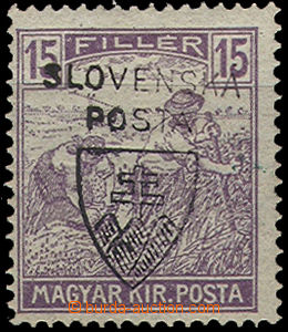 49130 - 1918 Pof.RV165 Jehlicskův přetisk, stopy po nálepkách, b