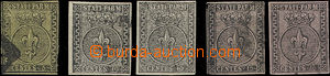 49150 - 1852 assembly of 5 pieces of stamps I. emission, contains Mi