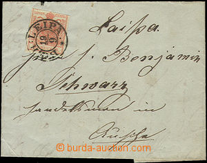 49164 - 1852 folded letter with issue I 3 Kreuzer with nice CDS Boeh