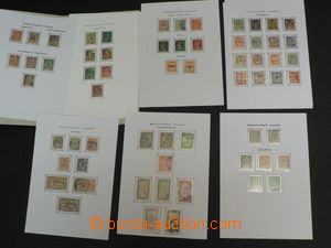 49211 - 1900-29 FRENCH COLONIES  comp. of stamps on/for 10 pcs of ch