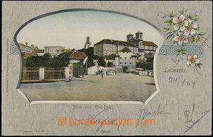49216 - 1904 Litoměřice - picture collage; long address, Un, very