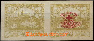49256 - 1920 Pof.170Na, 170Nc, horizontal 2stripe of unusual imperfo