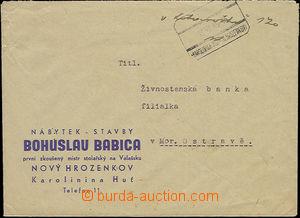 49270 - 1945 hotově vypl. firemní dopis s otiskem znárodněného