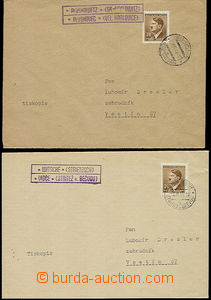 49274 - 1944 2x letter as printed matter with superb dvojjazyčnými