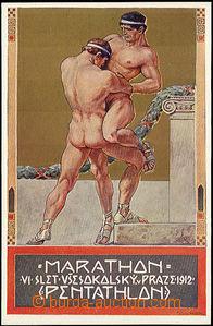 49295 - 1912 MUTTICH Kamil, VI. Sokol festival, postcard No.4; Un, v