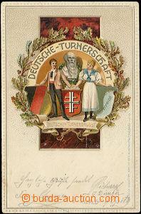 49297 - 1902 PHYSICAL TRAINING, Deutsche-Turnerschaft, embossed, par