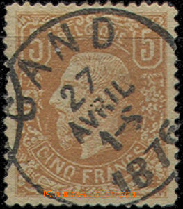 49334 - 1876 Mi.34A Leopold II., almost whole daily postmark Gand/27