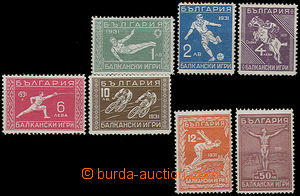 49340 - 1931  Mi.242-48 Balkan Games, 12L stamp with light tracks of