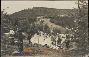49346 - 1928 skautský tábor na Radhošti; prošlá, poštovna PUSTEVNĚ,
