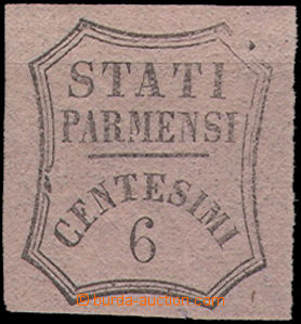 49357 - 1857 novinová Mi.2, hodnota 6c, černá na růžovém papí