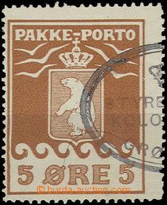 49362 - 1915 GRONLAND  Mi.6A Balíková doplatní známka, 2x stopa