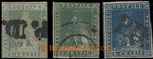 49372 - 1857-59 sestava 3ks zn. II. emise, Mi.13, 14 a 15, dobré st