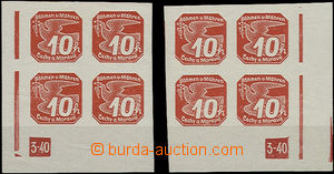 49376 - 1939 Pof.NV5, DZ 3-40 trojúhelník, levý i pravý rohový