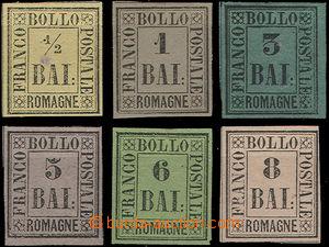49377 - 1859 sestava 6ks, obsahuje Mi.1, 2, 4, 6, 7, 8, ze staré st