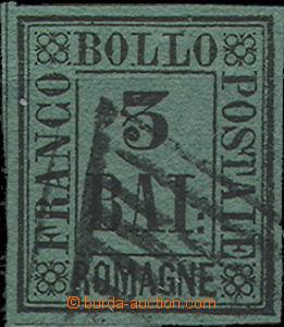 49382 - 1859 Mi.4, black on dark green paper, luxurious shape, 1 tig