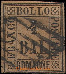 49383 - 1859 Mi.5, černá na červenohnědém papíru, běžný st�