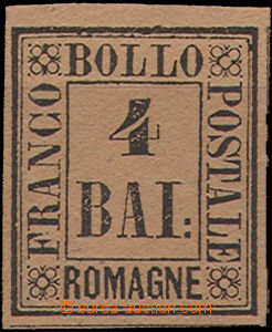 49385 - 1859 Mi.5, black on red-brown paper, luxurious shape, open,