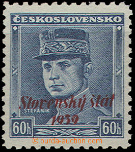 49407 - 1939 Alb.11, overprint blue Štefánik, superb, c.v.. 350SKK