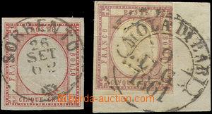 49442 - 1861-62 Mi.5a, carmine, wide margins, complete CDS Sorrento
