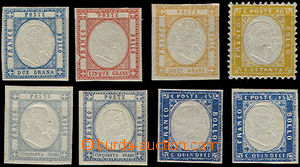49449 - 1861-63 nice assembly of 8 pieces of calssical stamps, conta