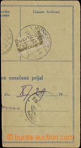 49452 - 1919 ústřižek poštovní průvodky od zásilky z Popradu