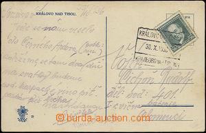 49458 - 1936 foto pohlednice Královo nad Tisou s nádražním razí