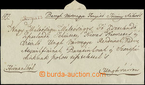 49474 - 1836 pre-philatelic folded letter with line červeným(!) post
