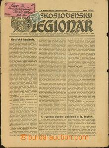49487 - 1922 tiskovina Československý legionář zaslaná na Podka