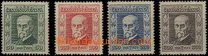 49586 - 1923 Pof.176-179, Jubilee, wmk P5, 5, 6, 5,  c.v.. 400CZK