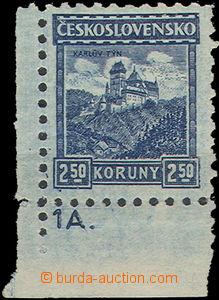49597 - 1926 Pof.222, Malé krajinky Karlštejn, rohový kus s DČ 1